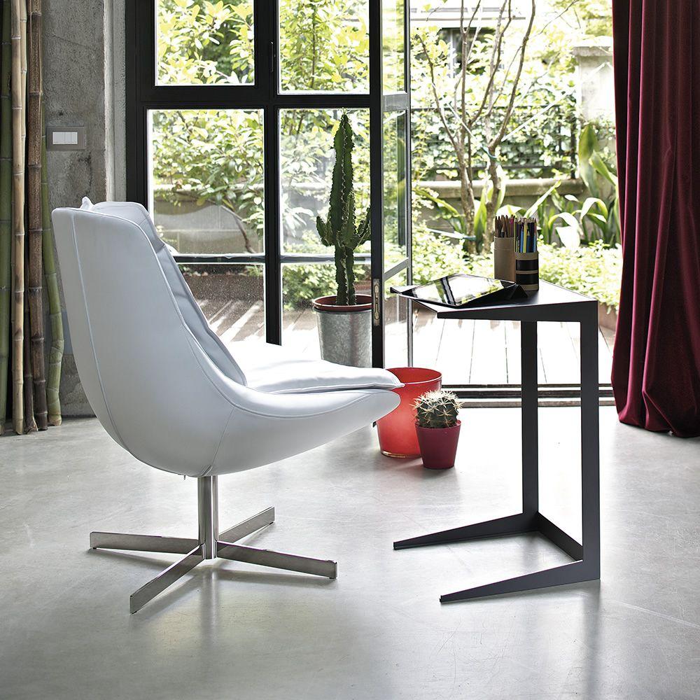 qui petite table d 39 appoint bout de canap de bontempi casa pourvue de structure en m tal et. Black Bedroom Furniture Sets. Home Design Ideas
