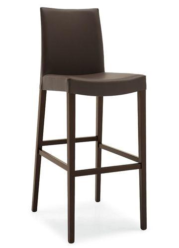 cb1279 cometa tabouret haut connubia calligaris en bois assise rembourr e et rev tue en. Black Bedroom Furniture Sets. Home Design Ideas