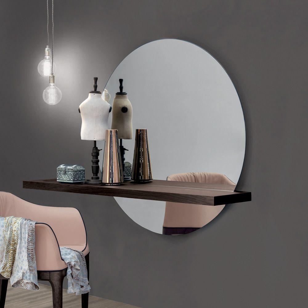 Sunset 7501 spiegel tonin casa mit holzregal in - Spiegel mit regal ...