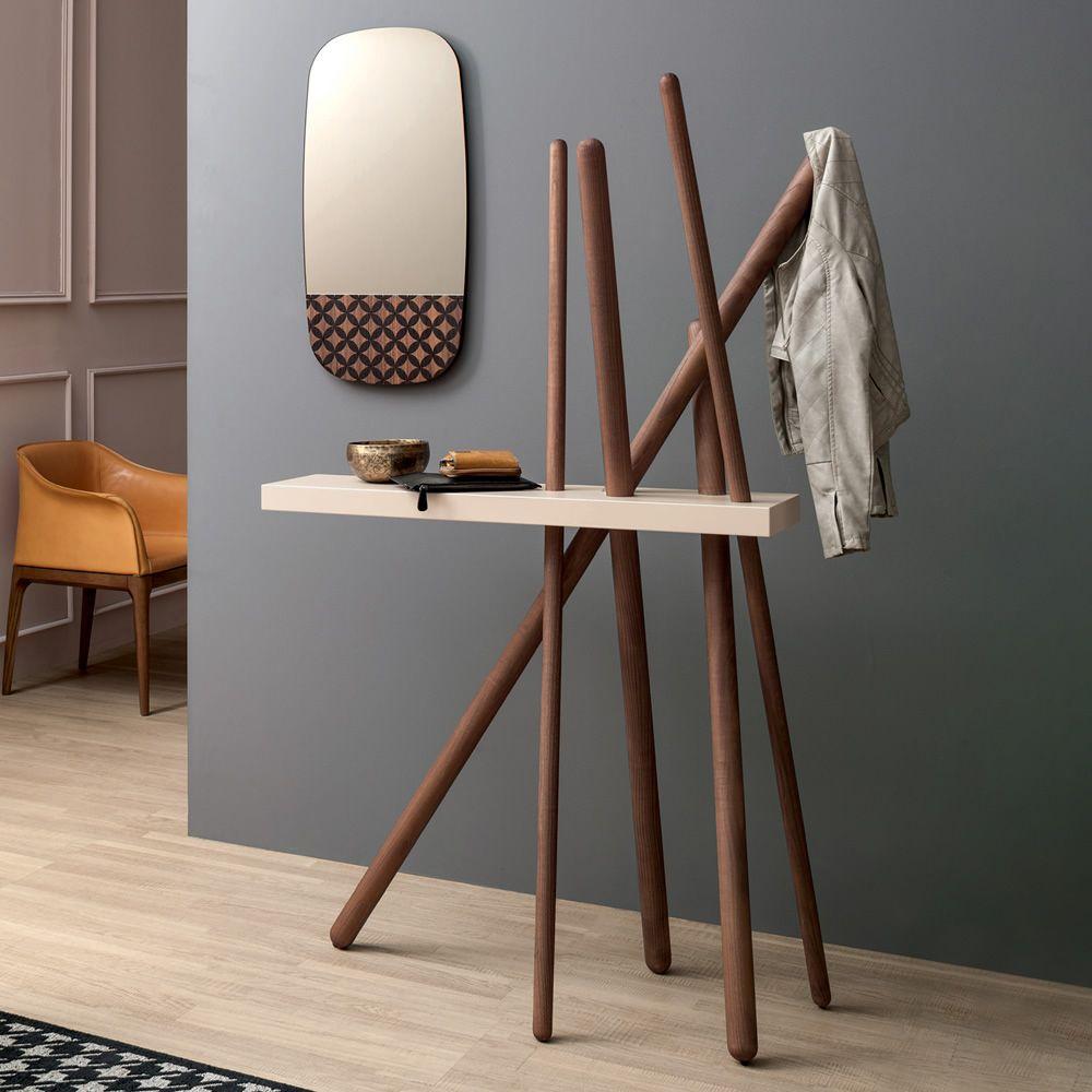 Wood 7419 - Kleiderständer - Konsole Tonin Casa aus Holz, mit ...