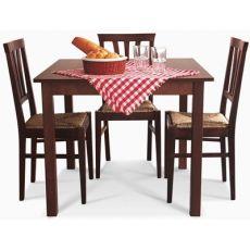 T001 - Tavolo in legno per bar e ristoranti, disponibile in tinte e misure personalizzabili