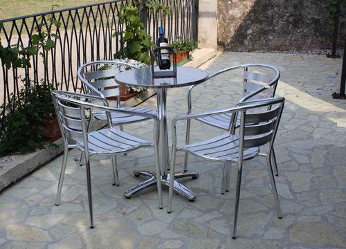 Piani inox pour bars et restaurants plateau de table en for Table exterieur inox