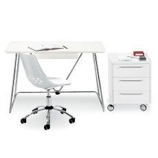 CB623 Jam - Connubia - Calligaris chair made of metal and technopolymer, swivel and adjustable in height, with wheels