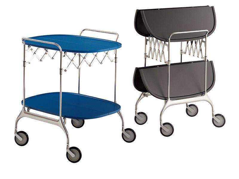 Gastone carrello kartell di design in metallo cromato e - Carrello portavivande design ...