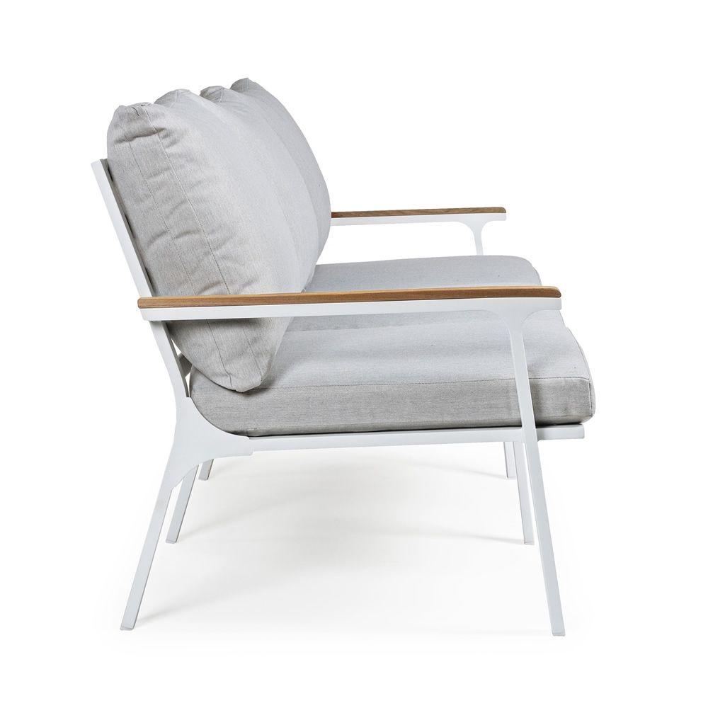 Lisso set set de jardin en aluminium et teck 2 fauteuils for Set de jardin