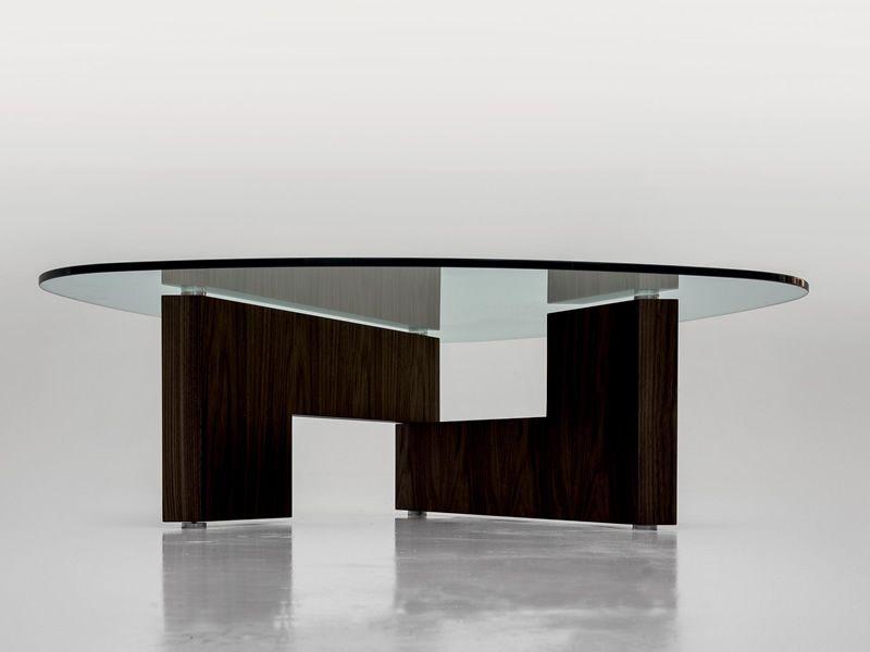 6275 Amanda - Tavolino da salotto Tonin Casa, in vetro e legno ...
