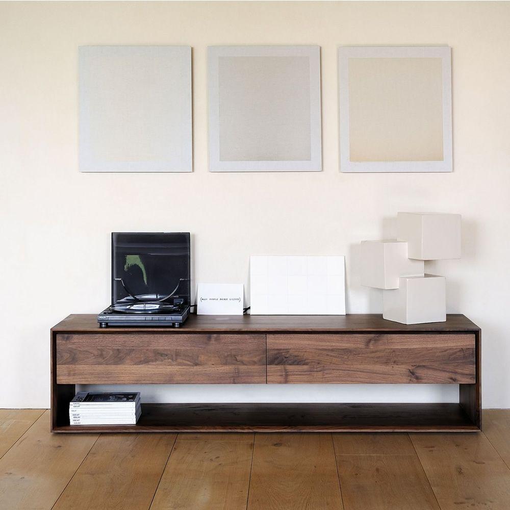 Nordic tv meuble tv ethnicraft en bois disponible en for Dimension meuble tv