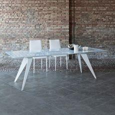 Ramos - Tavolo di design di Bontempi Casa, 200 x 106 cm fisso, con struttura in metallo e piano in legno o vetro, disponibile in diversi colori e dimensioni