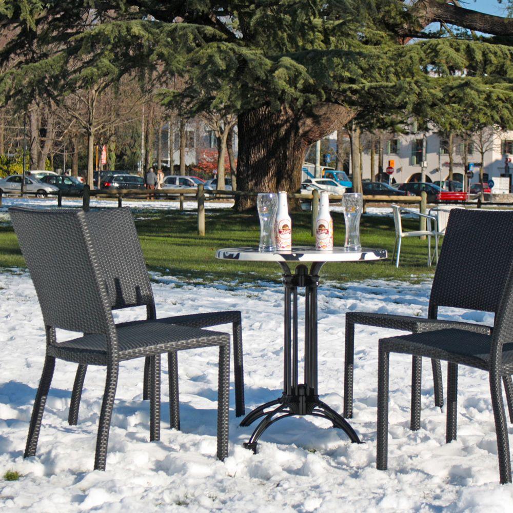 E18 sedia in alluminio e rattan sintetico per esterno diversi colori impilabile sediarreda - Sedia in rattan ...