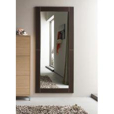 Cinquanta C - Espejo moderno con marco en símil piel, en varios colores y tamaños