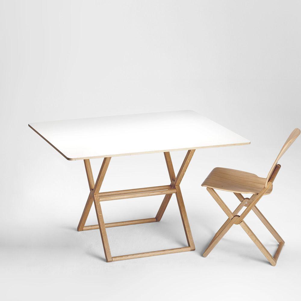 Treee dinner table design pliante plateau 120x90 cm sediarreda - Table pliante design ...