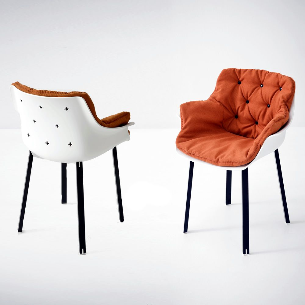 More plastic moderner sessel mit sitz aus technopolymer for Designer outlet stuhle