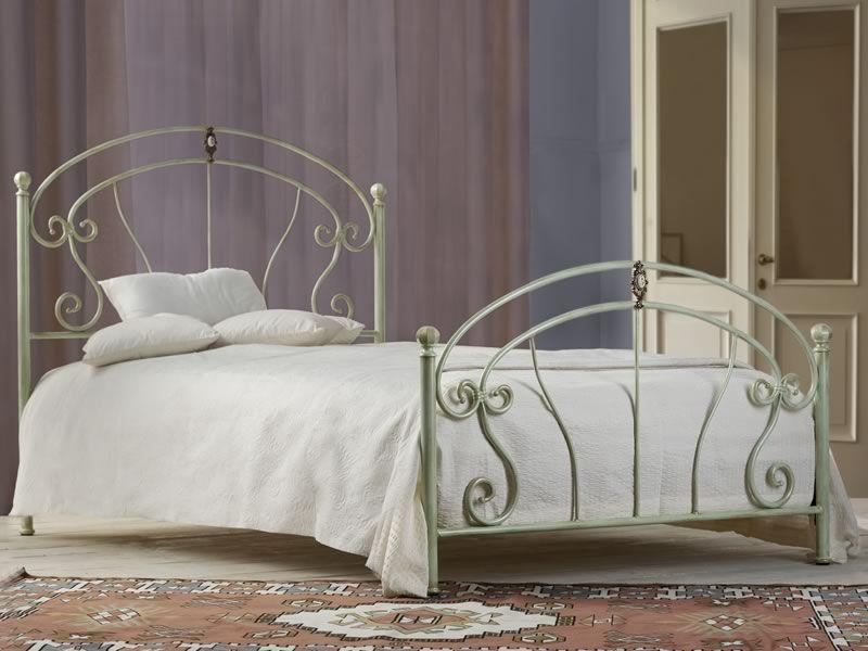 Mistral 120 Doppelbett Aus Schmiedeeisen Mit Dekorationen Aus