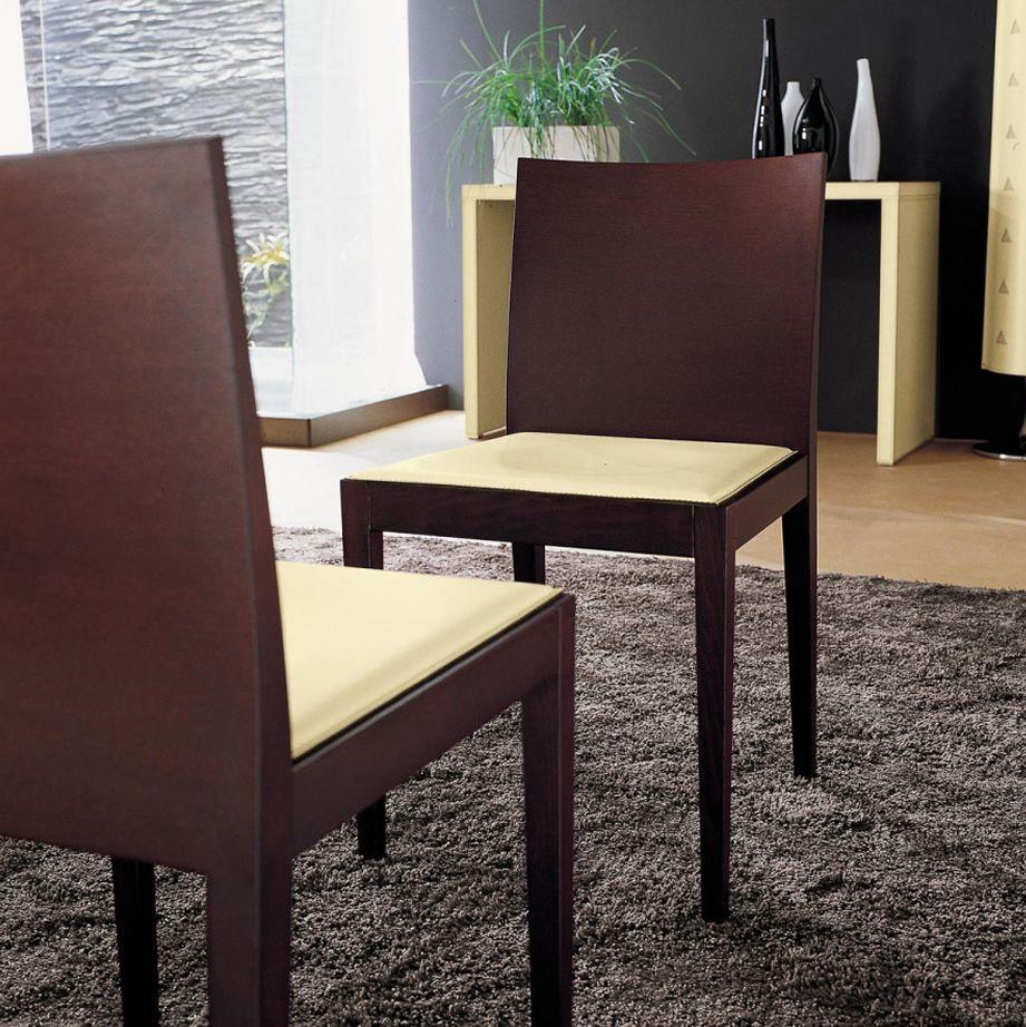 Jump sedia midj in legno con seduta in rigenerato di for Sedie in cuoio