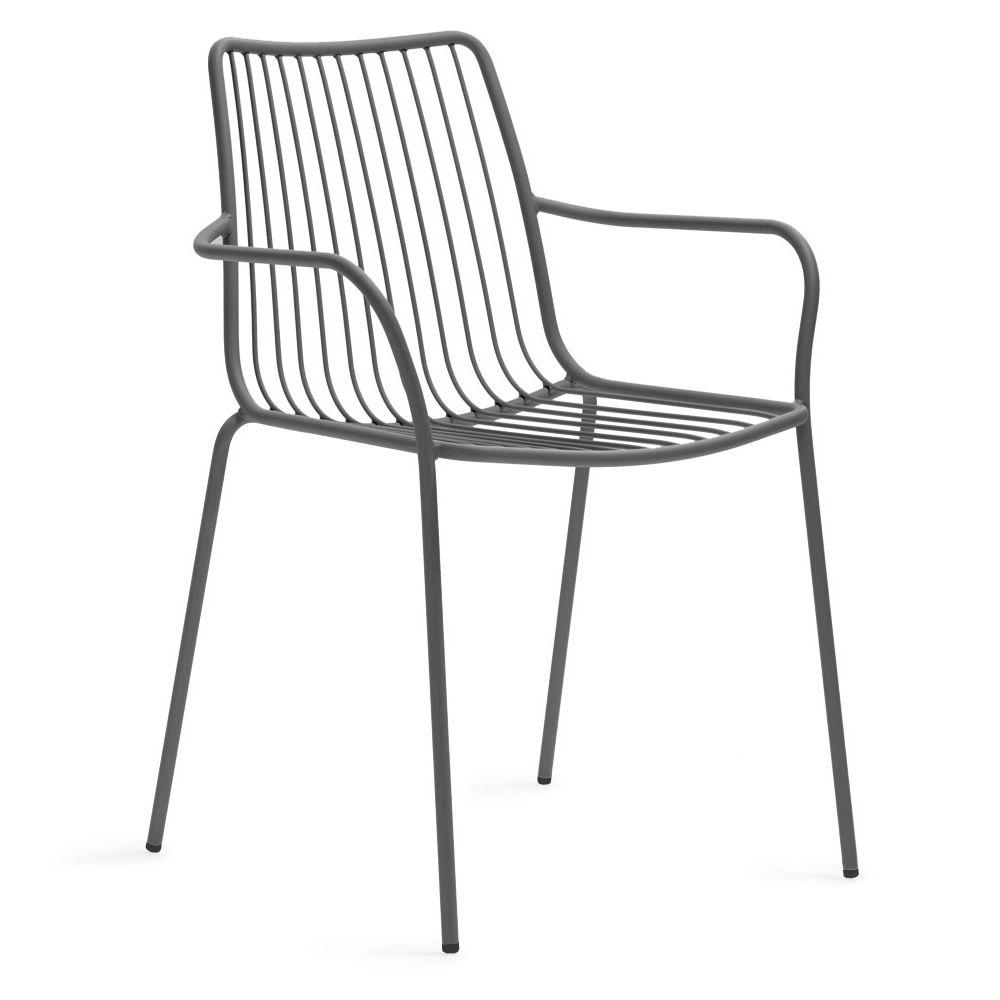 Nolita p stuhl pedrali mit armlehnen aus metall - Stuhle fur hohe tische ...