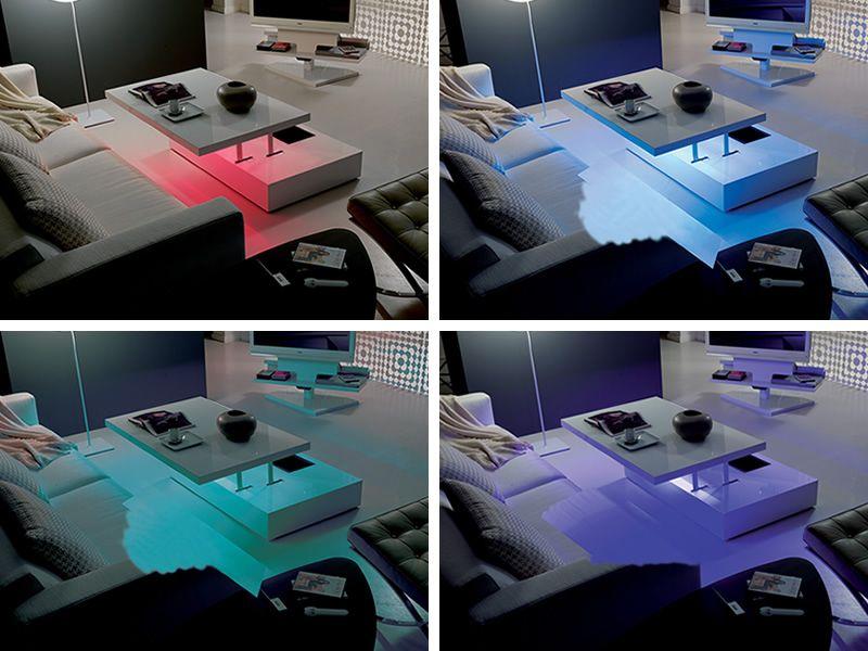 table basse moderne avec led. Black Bedroom Furniture Sets. Home Design Ideas