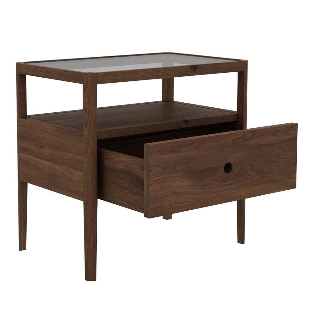 spindle n table de chevet ethnicraft en bois avec. Black Bedroom Furniture Sets. Home Design Ideas