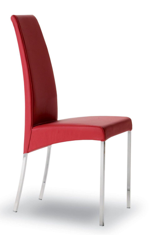 aida gepolsterter stuhl bontempi casa aus metall in verschiedenen farben und mit. Black Bedroom Furniture Sets. Home Design Ideas
