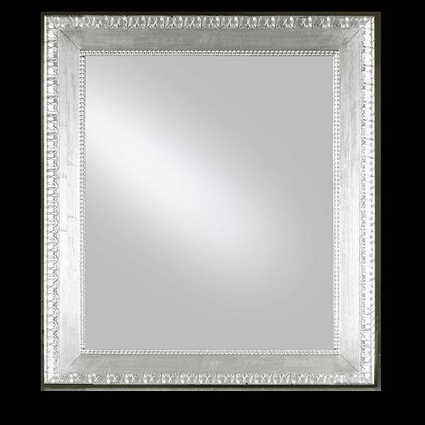 Flat c specchiera in legno con cornice decorata foglia for Specchio cornice argento