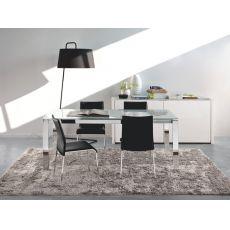 CB4010 110 Baron C - Table Connubia - Calligaris en métal, différentes plateaux disponibles, 110 x 70 cm  à rallonge
