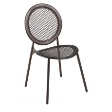 Antonietta 3396 - Emu chair made of metal with round backrest, for garden, stackable