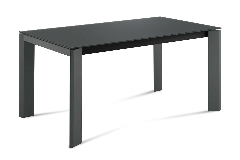 neos 160 table domitalia en m tal plateau en verre ou c ramique 160 x 90 cm rallonge. Black Bedroom Furniture Sets. Home Design Ideas