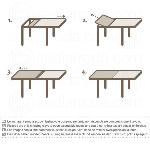 Kendy table moderne en bois plateau en verre 90x90 cm - Table 90x90 avec rallonge ...