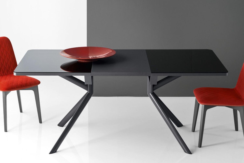 Cb4739 giove table rallonge connubia calligaris en - Table rectangulaire en verre avec rallonge ...