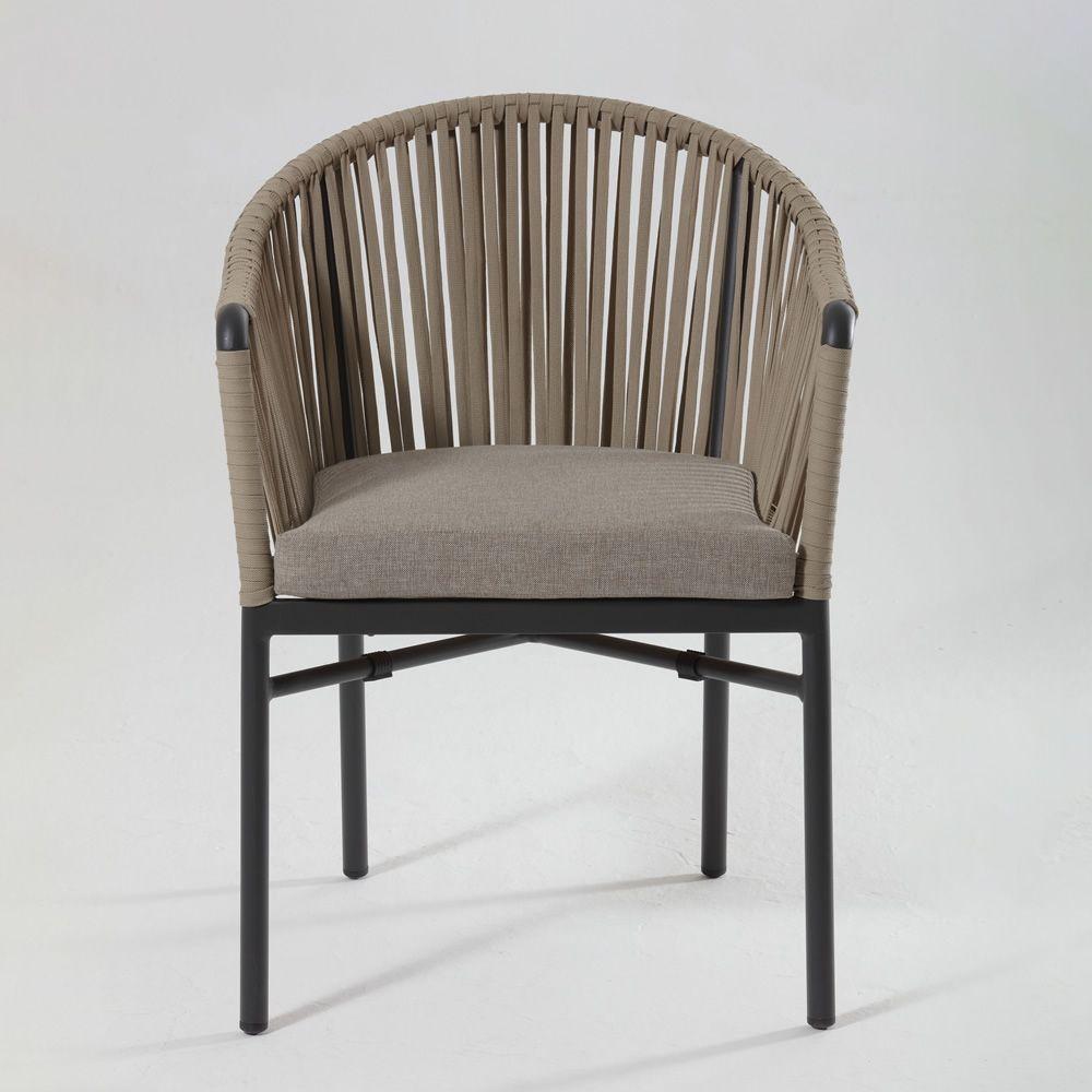 Baviera sill n para exteriores en aluminio tapizada con for Aluminio productos de fundicion muebles de jardin