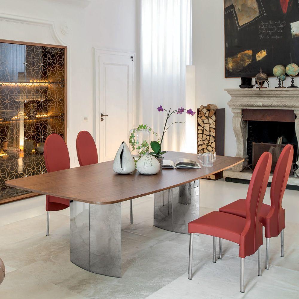 Manhattan 8051 - Tavolo fisso Tonin Casa in metallo, piano in legno ...