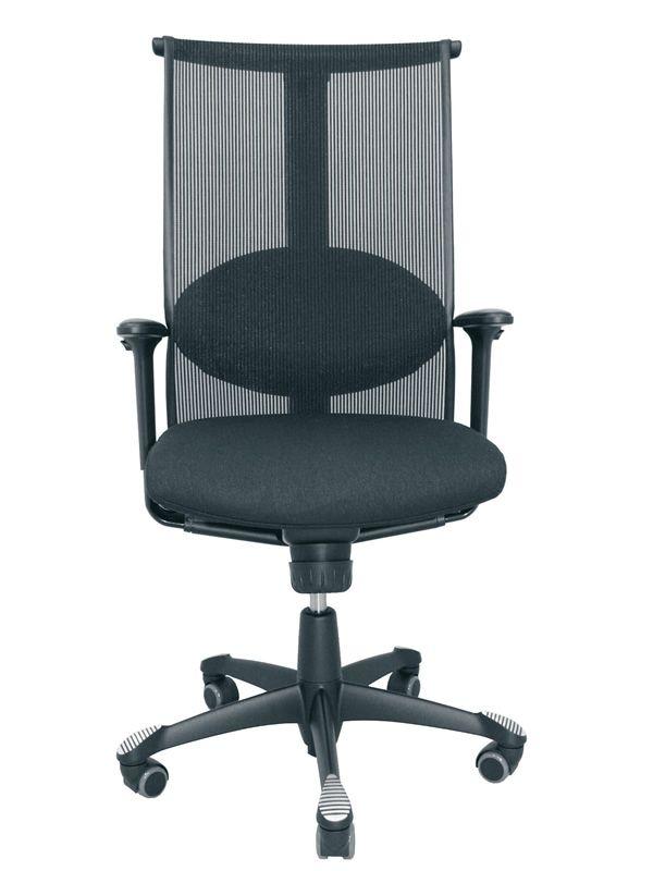 H09 meeting in chaise de bureau ergonomique h g avec - Coussin de chaise avec dossier ...