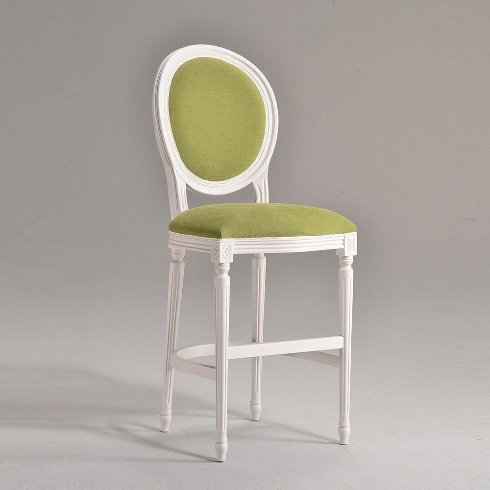 luigi xvi sg klassischer gepolsterter barhocker sitzh he 69 cm sediarreda. Black Bedroom Furniture Sets. Home Design Ideas