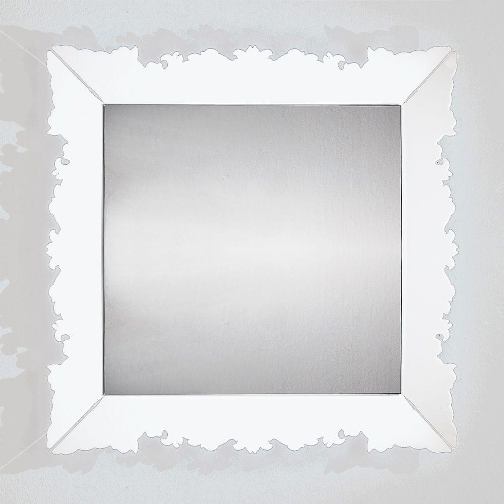 Novecento q miroir carr de colico design 90x90 cm en for Miroir carre blanc