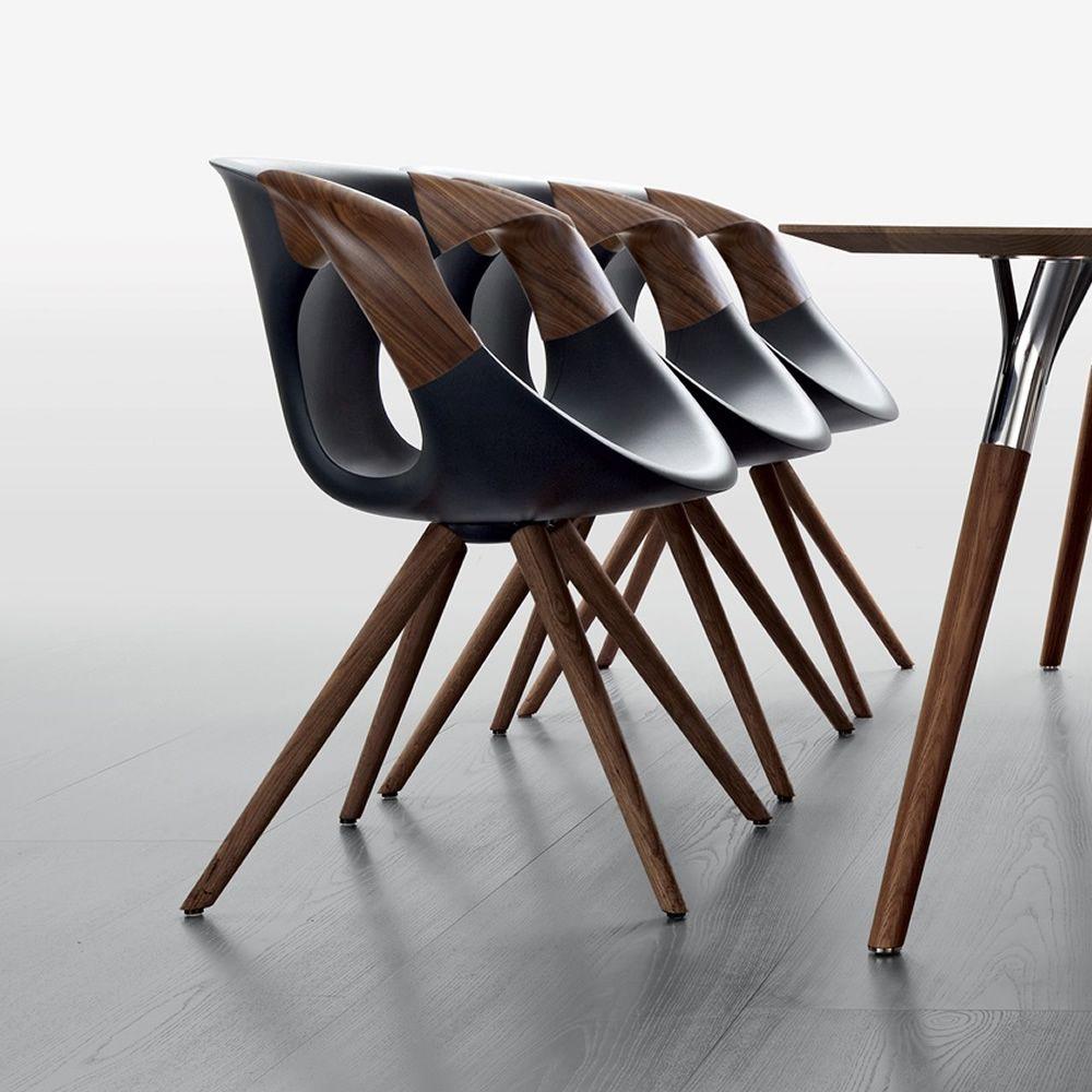 Großartig Up Chair Wooden Arms   Moderner Stuhl Aus Holz Und Polyurethan