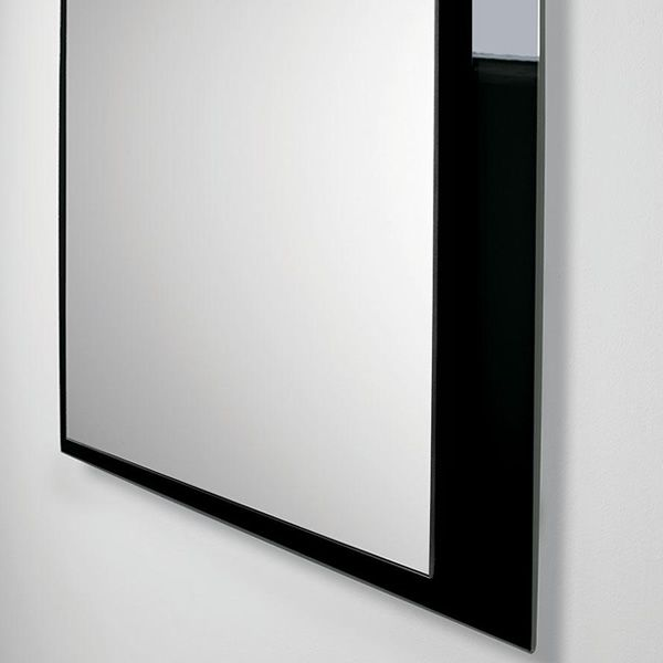 Line r espejo rectangular con marco de vidrio de colores for Espejo rectangular con marco