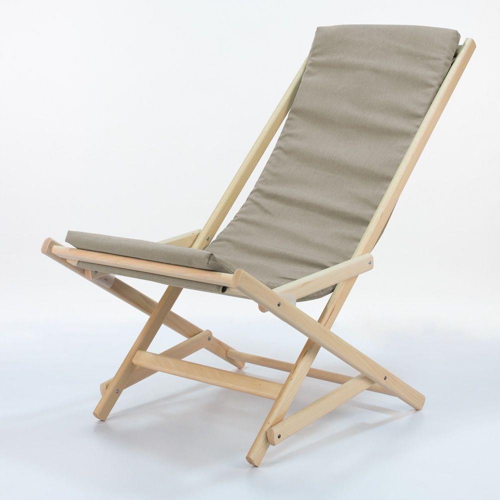 dondolina chaise longue pliable en h tre fournie de. Black Bedroom Furniture Sets. Home Design Ideas