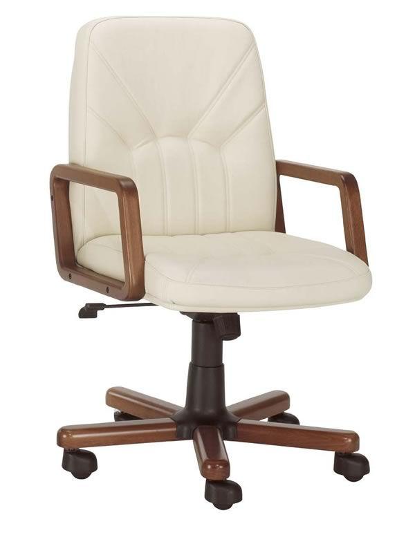 Chefsessel holz  ML501 W: Chefsessel mit Bezug aus Leder oder Kunstleder, mit ...