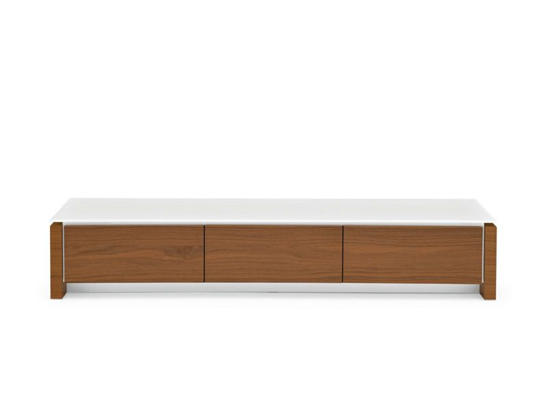 CS6029-3 Mag: Calligaris wooden TV stand, glass top, 193 x 52 cm ...