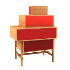 Terrazza - Commode de design Valsecchi en plaqué, avec tiroirs, en différentes couleurs