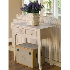 Ortigia 2 - Shabby chic consolle in wood, 81x38 cm, with drawers