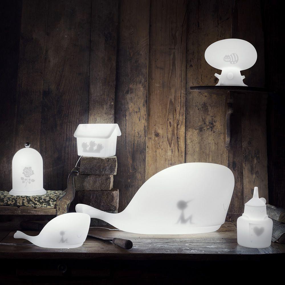 Rose lampada da tavolo in tecnopolimero diversi colori for Lampada da tavolo di design