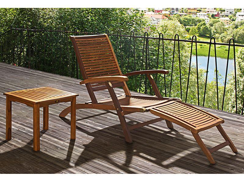 Ticino l per bar e ristoranti chaise longue in legno - Chaise longue da esterno ...