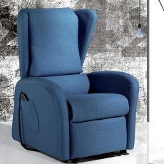 Campanula - Electric and adjustable relax armchair, different upholsteries and colours available, totally removable covering, also with Roller system and massage kit