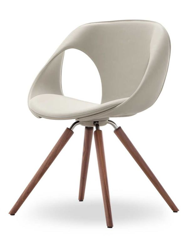 Up chair leather w design stuhl von tonon aus holz mit for Stuhl design drehbar