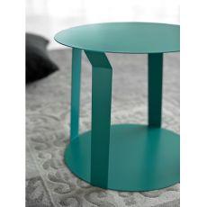 Freeline1 - Tavolino rotondo di design in metallo, disponibile in diversi colori