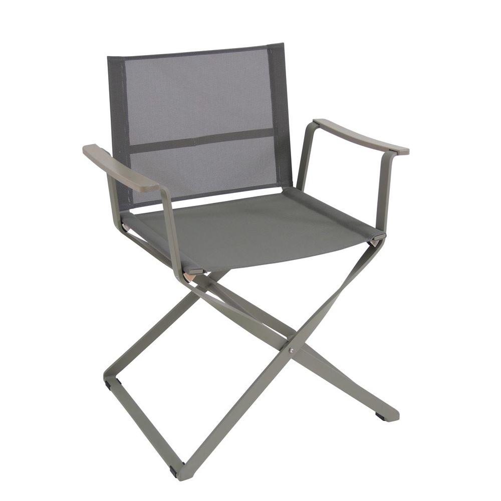 Ciak silla de director de cine emu de metal y tejido for Sillas de jardin plegables