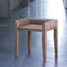 Cuba - Ethnicraft low stool made of teak, seat height 45 cm