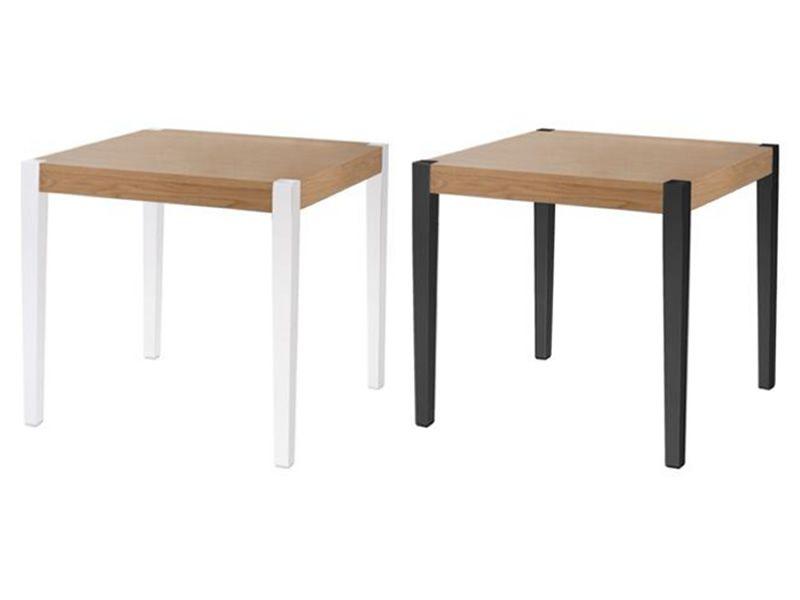 Together t tavolo di design con gambe in policarbonato e piano in legno di rovere fisso - Tavolo policarbonato ...
