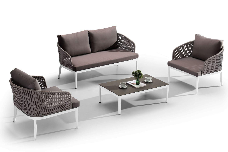 Arredamento Bianco E Corda : Carmen set coordinato per esterno in alluminio con