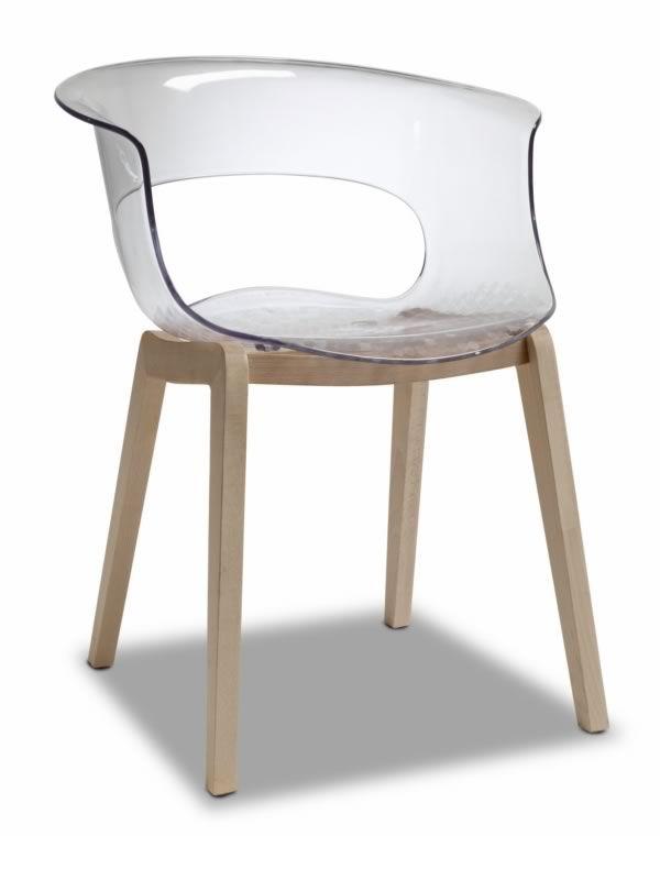 natural miss b 2800 fauteuil en bois et polycarbonate transparent ou full colour sediarreda. Black Bedroom Furniture Sets. Home Design Ideas